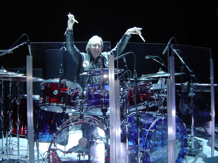 "Neal playing Zak"" drums"